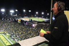 COURTESY: JERRY ALLEN - Jerry Allen, voice of the Oregon Ducks, says it's 'pretty cool 'to be involved in college sports.