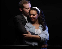 SUBMITTED PHOTO: CRAIG MITCHELLDYER - Mia Pinero as Maria and Andrew Wade as Tony in Broadway Rose Theatre Companys production of West Side Story, running July 1-24 at the Deb Fennell Auditorium in Tigard.