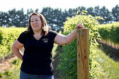 TRIBUNE FILE PHOTO - Kathy Unger, of Unger Farms, said that this year's increase to Oregon's minimum wage shouldn't impact her business too significantly, but as Oregon inches closer to its $14.75 minimum wage by 2022, she expects to see impacts to her family business.