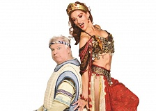CRAIG MITCHELLDYER - Dan Murphy as Pseudolus and Deanna Olsen White as Tintinabula are sure to entertain audiences in 'A Funny Thing Happened on the Way to the Forum.'