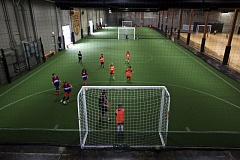 TIMES PHOTO: JAIME VALDEZ - Kids play futsal during camp at Rose City Futsal.