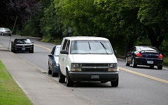 TIMES PHOTO: JONATHAN HOUSE - Parked cars dot the side of Hazelbrook Road near Highway 99W.