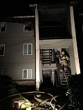 TUALATIN VALLEY FIRE & RESCUE - Firefighters battled an early Sunday morning apartment fire in West Linn.