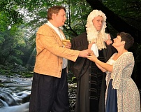 SUBMITTED PHOTO - Laurence Cox (left), Rob Patrick and Lindsey Lefler star in Light Opera of Portland's upcoming production of 'Iolanthe.'
