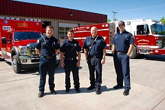 SUBMITTED PHOTO - On July 1, six more cross-trained firefighters/paramedics were added to the North Plains and Midway fire stations as a result of the increased resources available from the operational contract between TVF&R and Washington County Fire District 2.