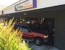 COURTESY OF TIGARD POLICE DEPARTMENT - A 92-year-old King City driver drove his vehicle into this Willowbrook Center business on July 20, causing significant damage, but no injuries were reported.