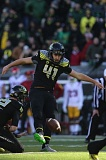 TRIBUNE FILE PHOTO: JAIME VALDEZ - Former Grant High soccer/football player Aidan Schneider has emerged as a successful place-kicker for the Oregon Ducks, who also have Matt Wogan at the position and to handle kickoffs.