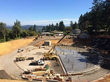 SUBMITTED PHOTO: CITY OF WEST LINN - The City began the process of concrete pouring at the reservoir in early August. The pouring is expected to be complete in September.