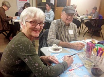 SUBMITTED PHOTO - Relax and enjoy coloring while you sip a glass of wine. The popular Stay Within the Wines class will be held Sept. 8 at the Lake Oswego Adult Community Center. Sign up now.
