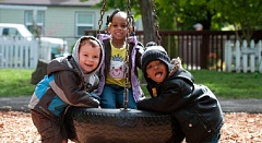 PHOTO CREDIT: JOEY PAYNTER  - Children play at Peninsula Children's Learning Center. The Portland nonprofit recently agreed to merge with Neighborhood House.