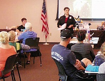 SUBMITTED PHOTO - Willamette Falls CERT member Jo Becker leads a recent animals-in-disasters class.