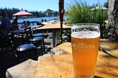 TIMES PHOTO: MARK MILLER - Stickmen Brewing Co. produces several craft beers at its small brewery on North State Street in Lake Oswego, including The Bee's Knees, a strong ale with honey.