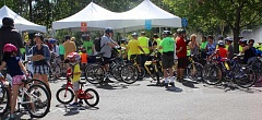 TIMES PHOTO: MANDY FEDER-SAWYER - About 500 people attended a bicycle safety event on Sunday.
