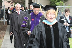 CONTRIBUTED PHOTO - Dr. Debra Derr participates in a graduation ceremony.