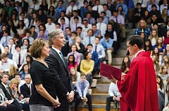 COURTESY OF JESUIT HIGH SCHOOL - Tom Arndorfer was installed as Jesuit's 12th president during a Mass of the Holy Spirit on Friday, Sept. 16.