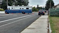 CONTRIBUTED PHOTO: KOIN - Streets have been closed as investigators begin the investigation into the shooting.