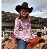 PHOTO COURTESY OF ALEC GAYNOR - Powell Butte 10-year-old Molly Gaynor sang the national anthem at the St. Paul Rodeo this summer. The family submitted that recording to the Wrangler National Finals Rodeo National Anthem Contest, where she placed in the top three.