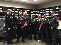 PORTLAND POLICE BUREAU - Officers will add a touch of pink to their uniforms during October to raise breast cancer awareness.