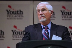 PHOTO COURTESY OF YOUTH VILLAGES - Pat Ritz accepts the Ritz Family Award at Youth Villages Oregon's annual gala last month.