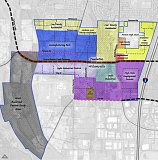 COURTESY OF THE CITY OF TUALATIN - The latest draft of the concept map for the Basalt Creek area, showing industrial zoning in blue and purple and residential in yellow and orange, was presented at Monday's meeting of the Tualatin City Council.