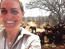 SUBMITTED PHOTO: DEBBIE ETHELL - Her elephant herd in Kenya always puts a smile on the face of Debbie Ethell. She has been following the life of the herd since she was just 8 years old.