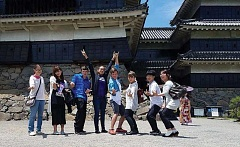 SUBMITTED PHOTO - Last year, Madras student Josh Hocker, fourth from right, visited students in Tomi City, Japan.