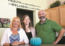 PHOTOGRAPHY BY JAIME VALDEZ - Chiropractors Dr. Kathy Cantwell and Dr. Andrea Otken and licensed massage therapist Jim Freda are ready to help patients with their pain at Unity Chiropractic and Wellness Center.