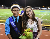 LON AUSTIN/CENTRAL OREGONIAN - Crook County High School Homecoming King Bryan Dominguez and Queen Maddie Pham