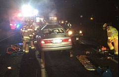 CLACKAMAS COUNTY SHERIFF'S OFFICE - A 'multiple fatality' crash closed Highway 211 at Short Fellows Road in Molalla.