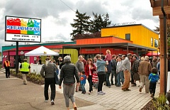 PAMPLIN MEDIA GROUP/DAVID F. ASHTON - People from all over Southeast Portland came to the opening of the Portland Mercado  in May 2015.