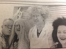 ARCHIVE - In 1996, Calvin Martin, Bobbi Eaton, Kennion Bebe and Kelly Roberts dressed up for Halloween at the Estacada Community Center.