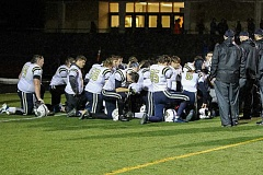 COURTESY: STEWART MONROE / BANKS HS ATHLETICS - The Banks football team meets after their loss to North Bend Friday.