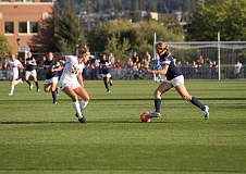 SUBMITTED PHOTO: GONZAGA UNIVERSITY - Canby High 2013 graduate Karley Baggerly (right) played her final game for Gonzaga University earlier this month and plans to play professional soccer.