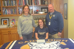HERALD PHOTO: COREY BUCHANAN - Canby senior girls soccer player Kyra Mull commits to the Oregon Institute of Technology.