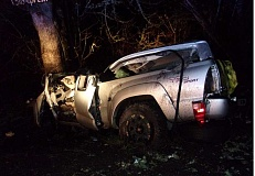 OSP - A Beavercreek man died when his Toyota crashed into a power pole and then a tree during a police pursuit Saturday.