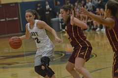 HERALD PHOTO: COREY BUCHANAN - Canby guard Cianne Cates scored a team-high 17 points against the Rams.