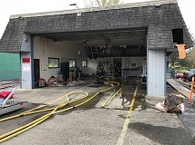 CONTRIBUTED PHOTO: CLACKAMAS FIRE DISTRICT #1 - Damascus Station 19 is closed for fire district and community use after a fire early Sunday morning.