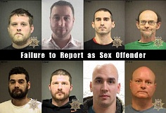 WASHINGTON COUNTY SHERIFF'S OFFICE - WCSO arrested eight individuals for failure to report as a sex offender.