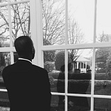 CONTRIBUTED PHOTO - Larry Morgan looks out onto the White House lawn during a trip to Washington, D.C. in March.