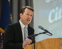 FILE PHOTO - Gresham Mayor Shane Bemis gives his 2017 State of the City address.