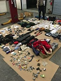 PHOTO COURTESY OF WASHINGTON COUNTY SHERIFF'S OFFICE - Some of stolen items found in Leroy Foos' Corrola after a high-speed chase.