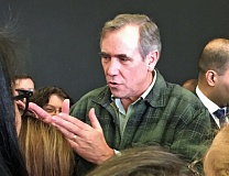 FILE PHOTO: PETER WONG - Jeff Merkley, speaking in Tigard earlier this winter.