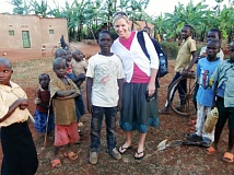CONTRIBUTED PHOTO - Tami Jo Saling-Caldwell, T.J. to all who know her, founded Apple of His Eye Chairty, which works in India and Rwanda.