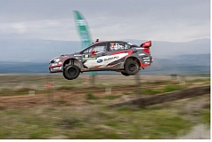 COURTESY: SUBARU RALLY TEAM USA - Travis Pastrana gets airborne before winning the 2017 Oregon Trail Rally last weekend.
