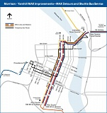 COURTESY: TRIMET - Detours and shuttle buses will be the new normal for transit while the Morrison-Yamhill MAX improvement project is underway.