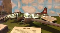 COURTESY OF DAVID FOSS - David Foss of King City took almost five months to create this B-17 bomber model, which contains a clear fuselage side so viewers cam see inside.