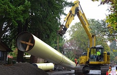 COURTESY OF THE CITY OF TIGARD - The Tigard Public Works Department uses heavy equipment to lay pipes and drains, among other tasks.