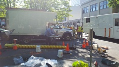COURTESY PHOTO - Pacific Power crews worked through Tuesday, May 23, to repair a burned out underground transformer vault in Northwest Portland. The Monday night fire knocked out power to more than 2,000 Pacific Power customers in downtown Portland.