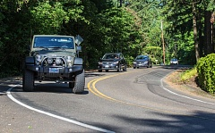 TIMES PHOTO: JONATHAN HOUSE - Drivers make their way through the so-called Garden Corner curves in Tualatin during rush hour traffic.