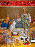 RITA A. LEONARD - Helen Jones, Glenda McCall & Dolores Dolan supervised the Baked Goods table at the first bazaar of the Holiday season - way back before Halloween.